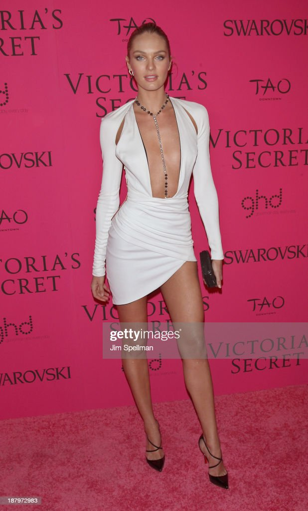 Model <a gi-track='captionPersonalityLinkClicked' href=/galleries/search?phrase=Candice+Swanepoel&family=editorial&specificpeople=4357958 ng-click='$event.stopPropagation()'>Candice Swanepoel</a> attends the after party for the 2013 Victoria's Secret Fashion Show at TAO Downtown on November 13, 2013 in New York City.