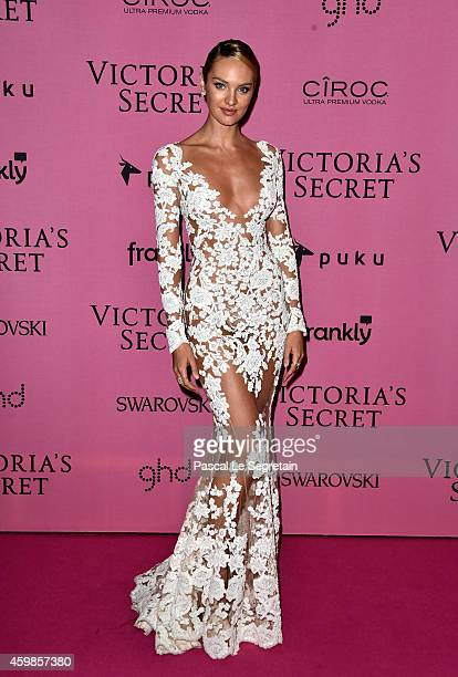 Model Candice Swanepoel attends the after party for the annual Victoria's Secret fashion show at Earls Court on December 2 2014 in London England
