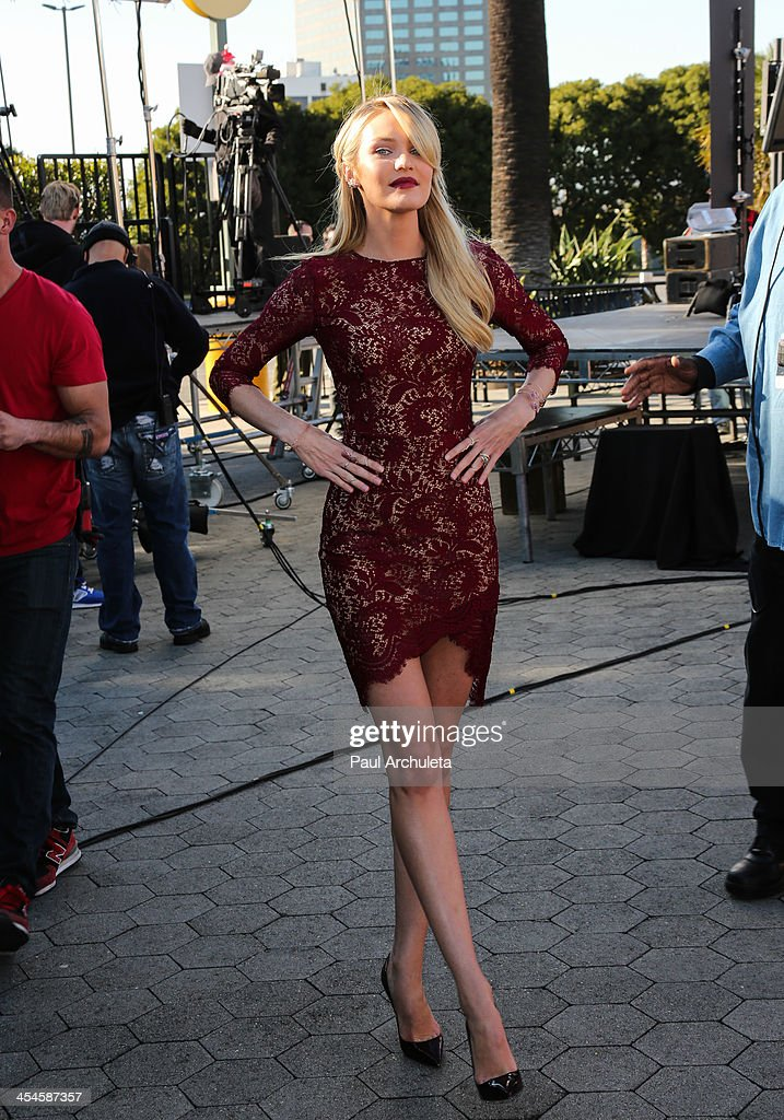 Model <a gi-track='captionPersonalityLinkClicked' href=/galleries/search?phrase=Candice+Swanepoel&family=editorial&specificpeople=4357958 ng-click='$event.stopPropagation()'>Candice Swanepoel</a> is seen at Universal City Walk on December 9, 2013 in Los Angeles, California.
