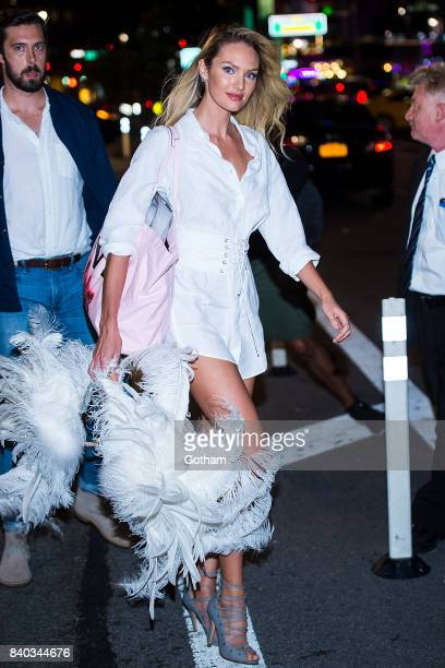 Model Candice Swanepoel is seen going to fittings for the 2017 Victoria's Secret Fashion Show in Midtown on August 28 2017 in New York City