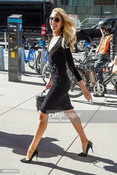 Model Candice Swanepoel is seen in Midtown on November 3 2015 in New York City
