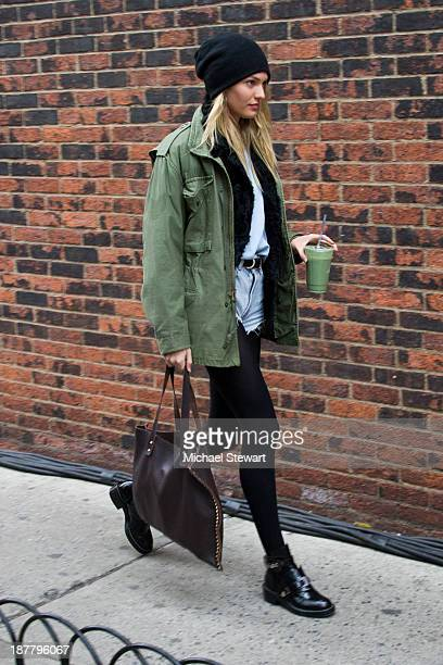 Model Candice Swanepoel seen arriving at rehearsals for the 2013 Victoria's Secret Fashion Show on November 12 2013 in New York City