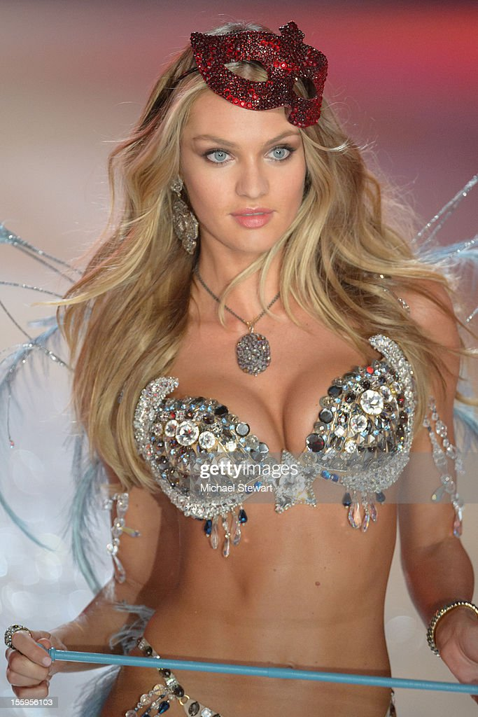 Model Candice Swanepoel walks the runway during the 2012 Victoria's Secret Fashion Show at the Lexington Avenue Armory on November 7, 2012 in New York City.
