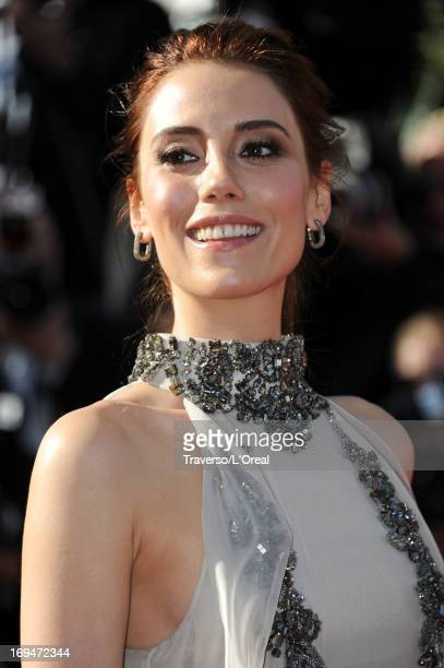 Model Cansu Dere attends the 'La Venus A La Fourrure' premiere during The 66th Annual Cannes Film Festival at the Palais des Festivals on May 25 2013...