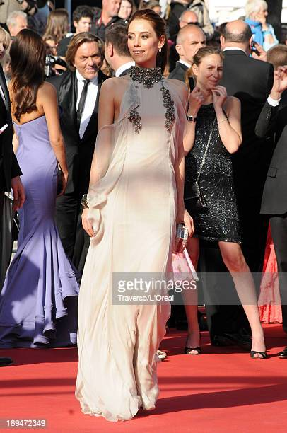 Model Cansu Dere attends the 'La Venus A La Fourrure' premiere during The 66th Annual Cannes Film Festival at the Palais des Festivals on May 25 2013...