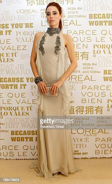 Model Cansu Dere attends the L'Oreal Cocktail Reception during The 66th Cannes Film Festival on May 25 2013 in Cannes France