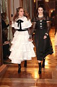 Model Cara Delevigne and Kendall Jenner during the Chanel Metiers d'Art Collection 2014/15 ParisSalzburg on December 2 2014 in Salzburg Austria