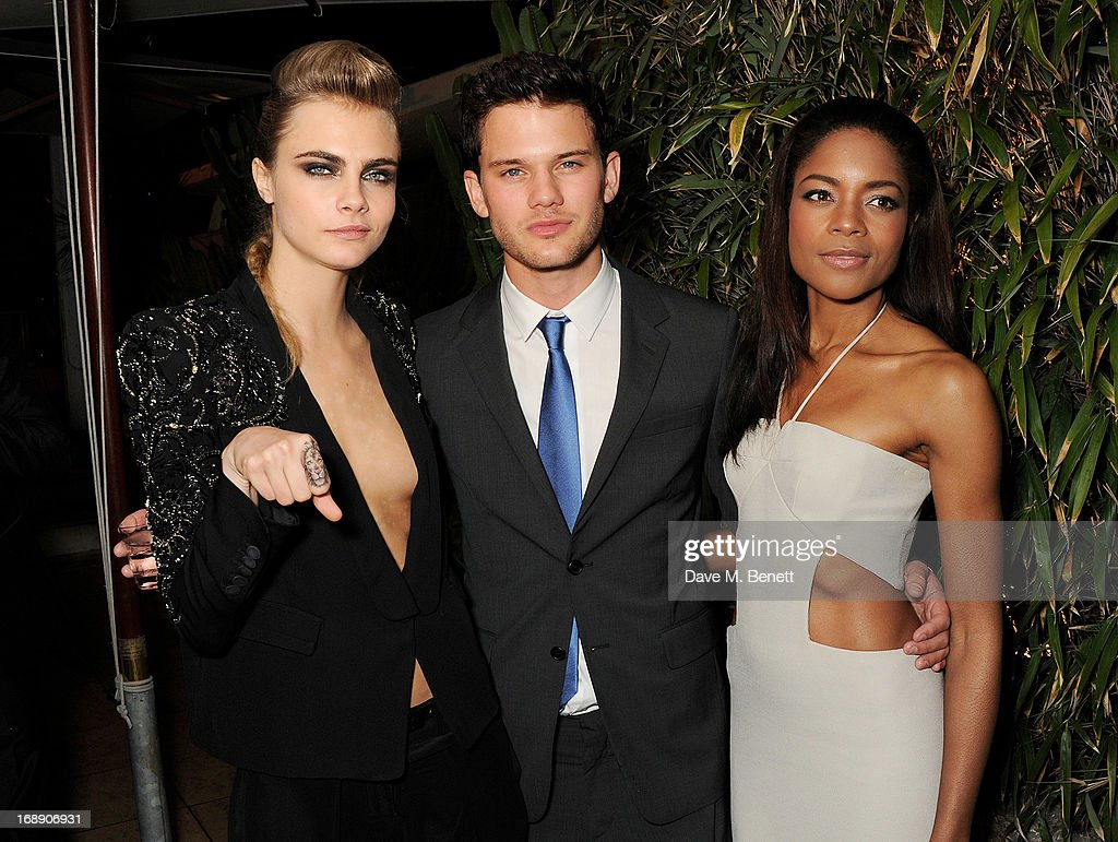 Model Cara Delevinge, actor Jeremy Irvine and actress Naomie Harris attend the IFP, Calvin Klein Collection & Euphoria Calvin Klein celebration of Women In Film At The 66th Cannes Film Festival on May 16, 2013 in Cannes, France.