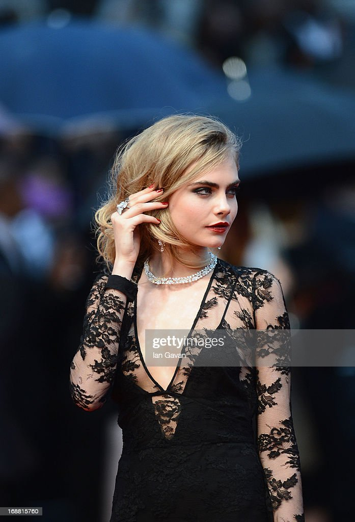 Model <a gi-track='captionPersonalityLinkClicked' href=/galleries/search?phrase=Cara+Delevingne&family=editorial&specificpeople=5488432 ng-click='$event.stopPropagation()'>Cara Delevingne</a> attends Electrolux at Opening Night of The 66th Annual Cannes Film Festival at the Theatre Lumiere on May 15, 2013 in Cannes, France.