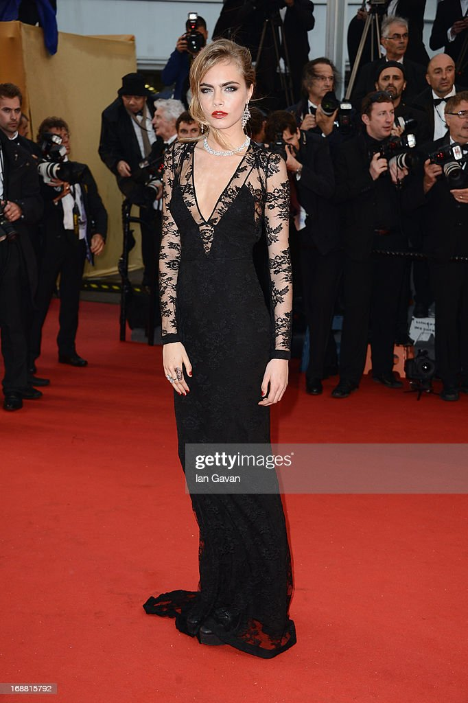 Model Cara Delevingne attends Electrolux at Opening Night of The 66th Annual Cannes Film Festival at the Theatre Lumiere on May 15, 2013 in Cannes, France.