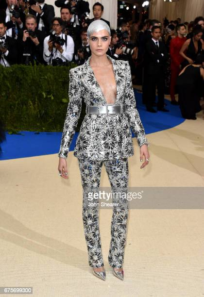 Model Cara Delevingne attends 'Rei Kawakubo/Comme des Garcons Art Of The InBetween' Costume Institute Gala at Metropolitan Museum of Art on May 1...