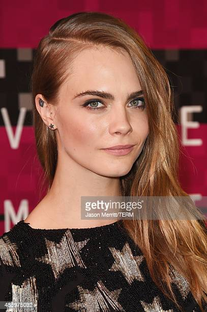 Model Cara Delevingne attends the 2015 MTV Video Music Awards at Microsoft Theater on August 30 2015 in Los Angeles California