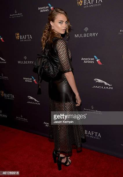 Model Cara Delevingne attends the BAFTA Los Angeles Tea Party at The Four Seasons Hotel Los Angeles At Beverly Hills on January 10 2015 in Los...