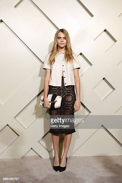 Model Cara Delevingne attends the Burberry brings London to Shanghai event on April 24 2014 in Shanghai China