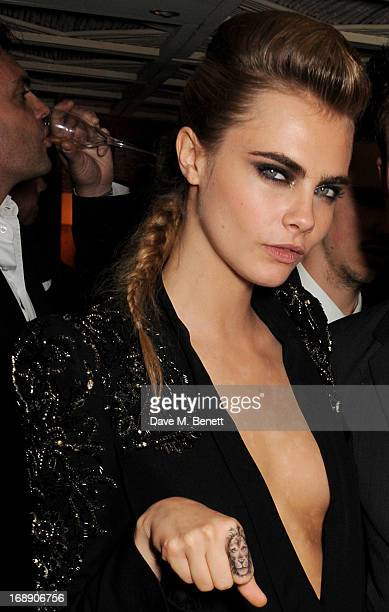 Model Cara Delevingne attends the IFP Calvin Klein Collection Euphoria Calvin Klein celebration of Women In Film At The 66th Cannes Film Festival on...