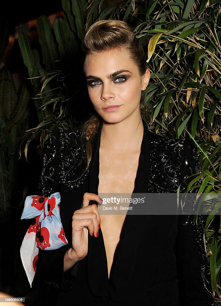 Model <a gi-track='captionPersonalityLinkClicked' href=/galleries/search?phrase=Cara+Delevingne&family=editorial&specificpeople=5488432 ng-click='$event.stopPropagation()'>Cara Delevingne</a> attends the IFP, Calvin Klein Collection & Euphoria Calvin Klein celebration of Women In Film At The 66th Cannes Film Festival on May 16, 2013 in Cannes, France.