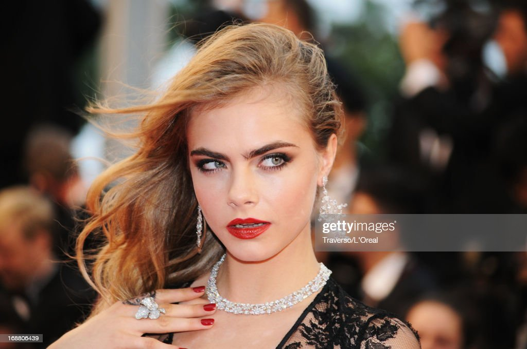 Model Cara Delevingne attends the Opening Ceremony and 'The Great Gatsby' Premiere during the 66th Annual Cannes Film Festival at the Theatre Lumiere on May 15, 2013 in Cannes, France.