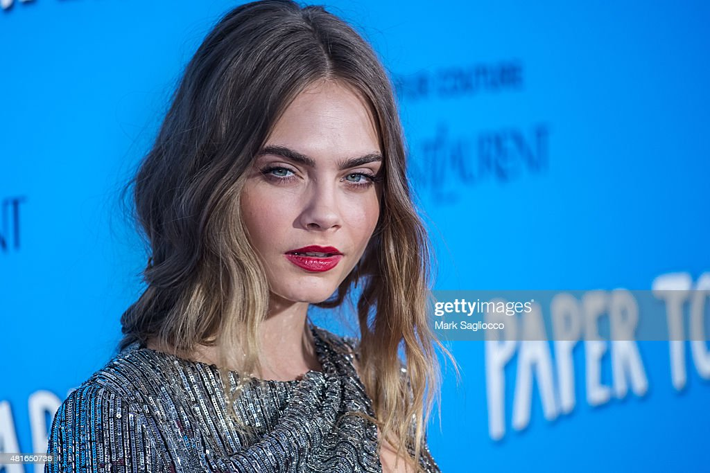 Model <a gi-track='captionPersonalityLinkClicked' href=/galleries/search?phrase=Cara+Delevingne&family=editorial&specificpeople=5488432 ng-click='$event.stopPropagation()'>Cara Delevingne</a> attends the 'Paper Towns' New York Premiere at the AMC Loews Lincoln Square on July 21, 2015 in New York City.