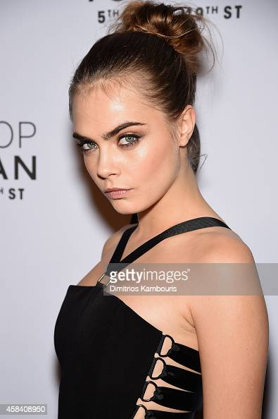 Model Cara Delevingne attends the Topshop Topman New York City flagship opening dinner at Grand Central Terminal on November 4 2014 in New York City