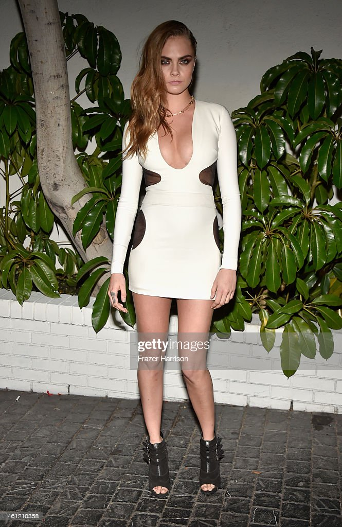 Model Cara Delevingne attends the W Magazine celebration of the 'Best Performances' Portfolio and The Golden Globes with Cadillac and Dom Perignon at Chateau Marmont on January 8, 2015 in Los Angeles, California.