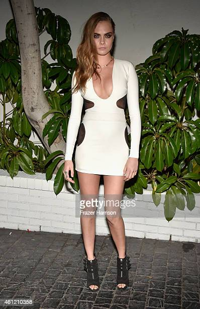 Model Cara Delevingne attends the W Magazine celebration of the 'Best Performances' Portfolio and The Golden Globes with Cadillac and Dom Perignon at...