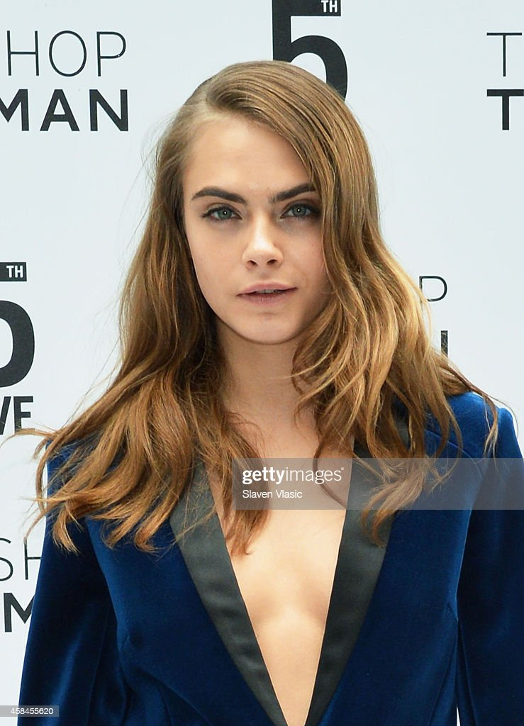 Model Cara Delevingne attends Topshop Topman Flagship Store grand opening on November 5, 2014 in New York City.