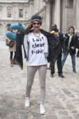 Model Cara Delevingne on day 7 of Paris Womens Fashion Week Autumn/Winter 2013 on March 06 2013 in Paris France