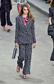 Model Cara Delevingne walks the runway during the Chanel show as part of the Paris Fashion Week Womenswear Spring/Summer 2015 on September 30 2014 in...