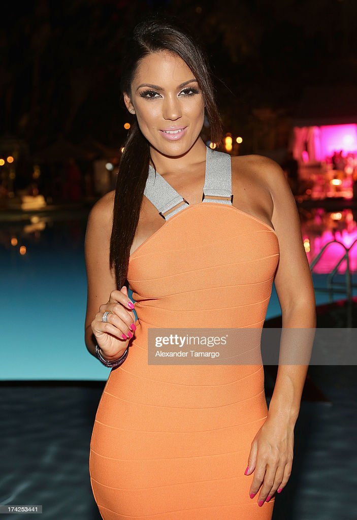 Model Carissa Rosario attends the Minimale Animale show during Mercedes-Benz Fashion Week Swim 2014 at Oasis at the Raleigh on July 22, 2013 in Miami, Florida.