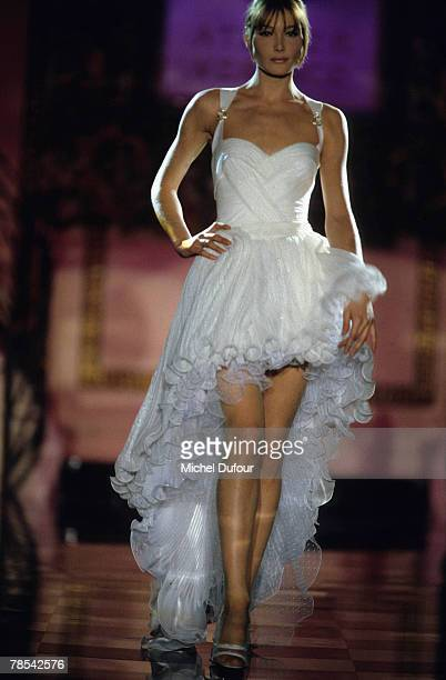 PARIS Model Carla Bruni walks the catwalk at a Versace High fashion show in Paris France According to reports December 18 2007 French President...