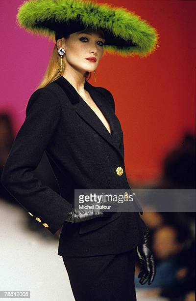 PARIS Model Carla Bruni walks the catwalk at a YSL ready to wear show in Paris France According to reports December 18 2007 French President Nicolas...