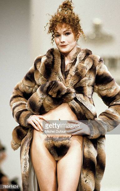 PARIS Model Carla Bruni walks the catwalk at the Vivienne Westwood show ready to wear in in Paris France According to reports December 18 2007 French...