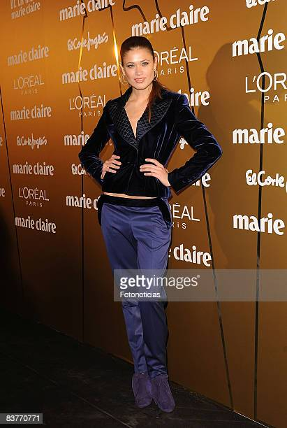 Model Carla Pereira attends Marie Claire Prix de la Mode 2008 ceremony at the French Ambassador's residence on November 20 2008 in Madrid Spain