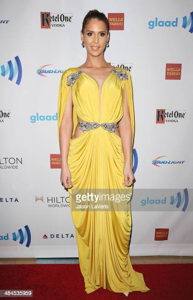 Model Carmen Carrera attends the 25th annual GLAAD Media Awards at The Beverly Hilton Hotel on April 12 2014 in Beverly Hills California