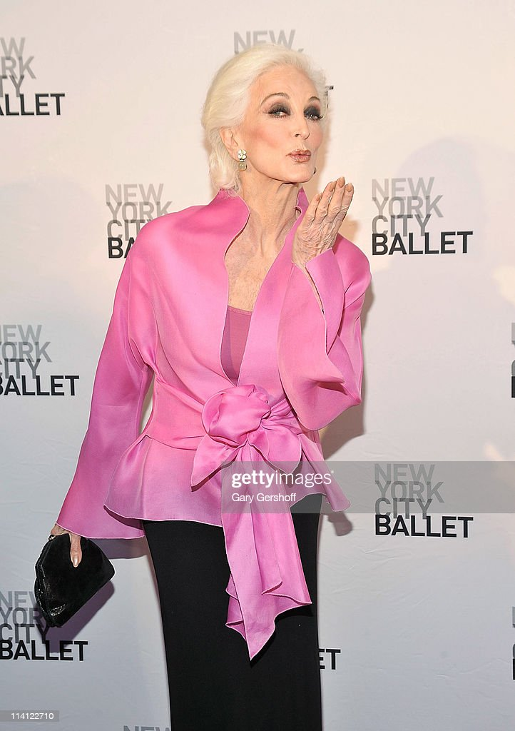 Model <a gi-track='captionPersonalityLinkClicked' href=/galleries/search?phrase=Carmen+Dell%27Orefice&family=editorial&specificpeople=664172 ng-click='$event.stopPropagation()'>Carmen Dell'Orefice</a> attends the 2011 New York City Ballet spring gala at the David H. Koch Theater, Lincoln Center on May 11, 2011 in New York City.