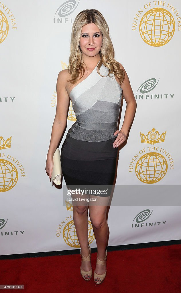 Model Carmen Dickman attends the Queen of the Universe International Beauty Pageant at the Saban Theatre on March 16, 2014 in Beverly Hills, California.