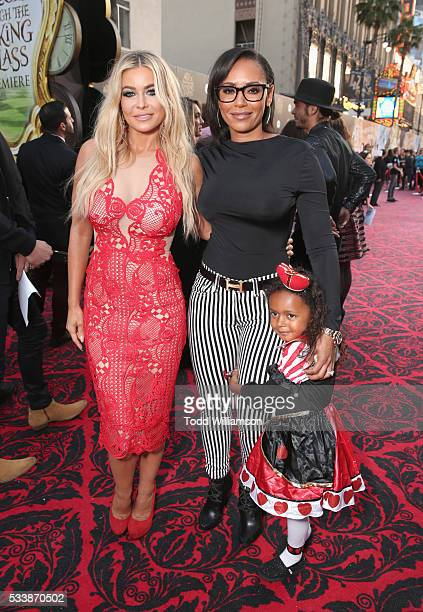 Model Carmen Electra and Mel B attend the premiere of Disney's 'Alice Through The Looking Glass' at the El Capitan Theatre on May 23 2016 in...
