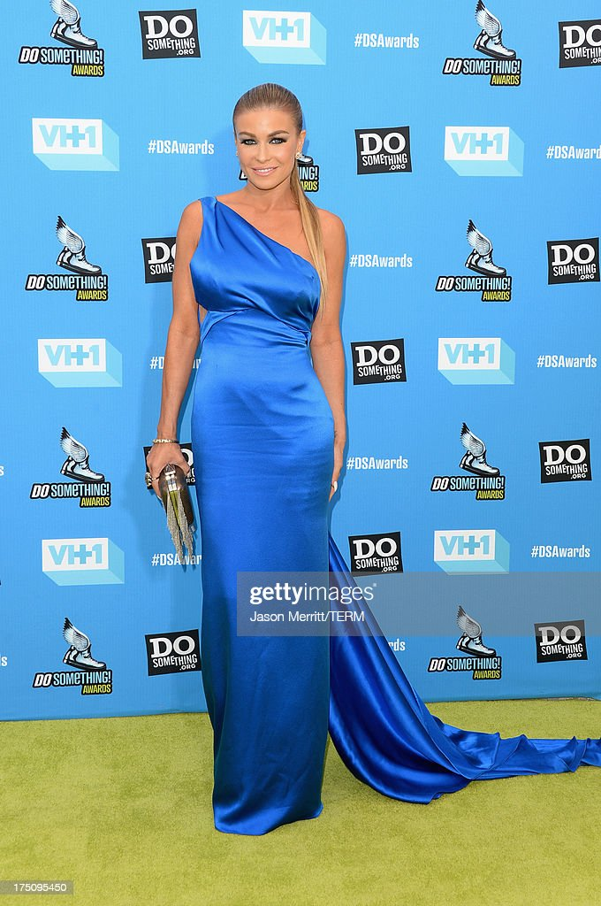 Model <a gi-track='captionPersonalityLinkClicked' href=/galleries/search?phrase=Carmen+Electra&family=editorial&specificpeople=171242 ng-click='$event.stopPropagation()'>Carmen Electra</a> arrives at the DoSomething.org and VH1's 2013 Do Something Awards at Avalon on July 31, 2013 in Hollywood, California.