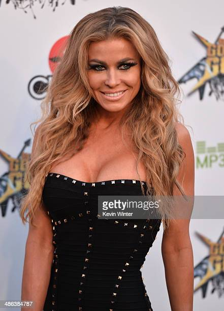 Model Carmen Electra attends the 6th Annual Revolver Golden Gods Award Show at Club Nokia on April 23 2014 in Los Angeles California
