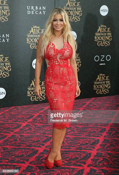 Model Carmen Electra attends the premiere of Disney's 'Alice Through The Looking Glass' at the El Capitan Theatre on May 23 2016 in Hollywood...