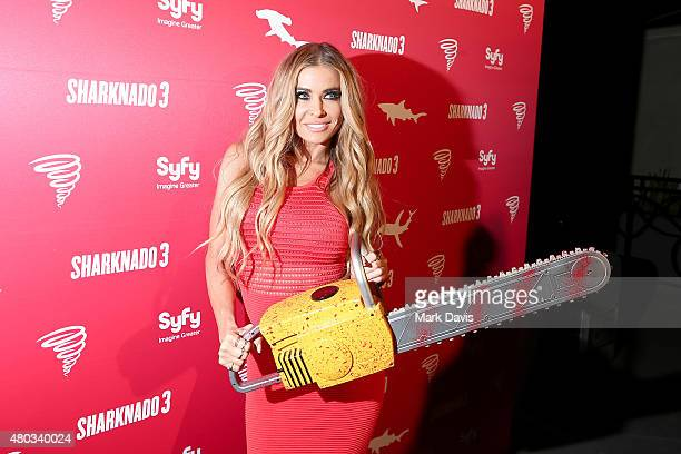 Model Carmen Electra attends the 'Sharknado 3' Party during ComicCon International 2015 at Hotel Solamar on July 10 2015 in San Diego California