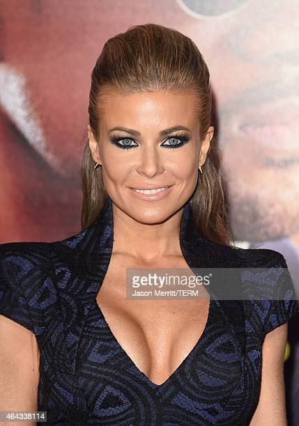 Model Carmen Electra attends the Warner Bros Pictures' 'Focus' premiere at TCL Chinese Theatre on February 24 2015 in Hollywood California