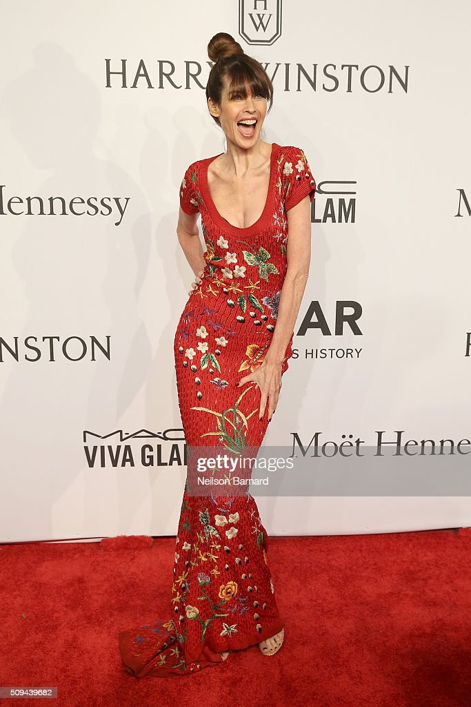 Model <a gi-track='captionPersonalityLinkClicked' href=/galleries/search?phrase=Carol+Alt&family=editorial&specificpeople=202034 ng-click='$event.stopPropagation()'>Carol Alt</a> attends the 2016 amfAR New York Gala at Cipriani Wall Street on February 10, 2016 in New York City.