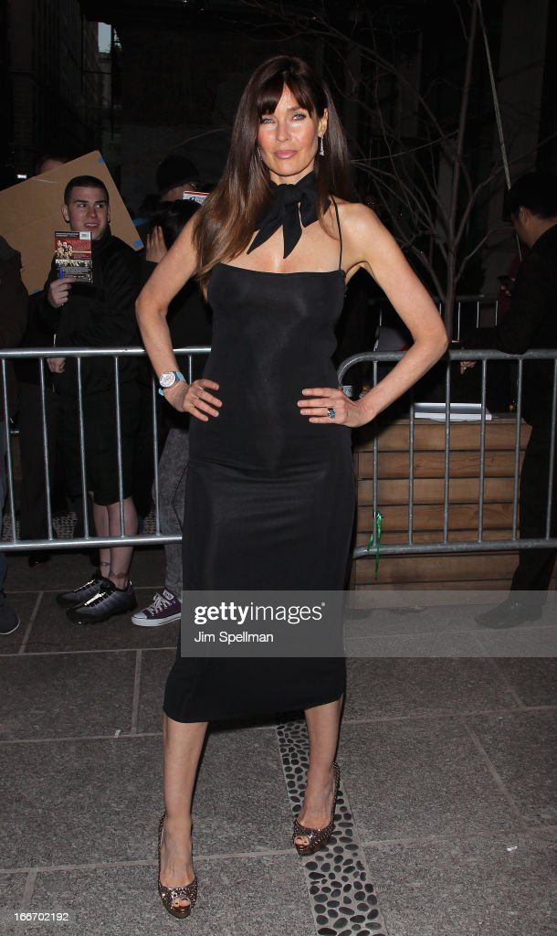 Model Carol Alt attends The Cinema Society and Men's Fitness screening of 'Pain and Gain' at Crosby Street Hotel on April 15, 2013 in New York City.