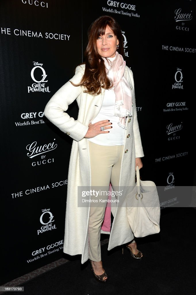 Model Carol Alt attends the Gucci and The Cinema Society screening of 'Oz the Great and Powerful' at DGA Theater on March 5, 2013 in New York City.