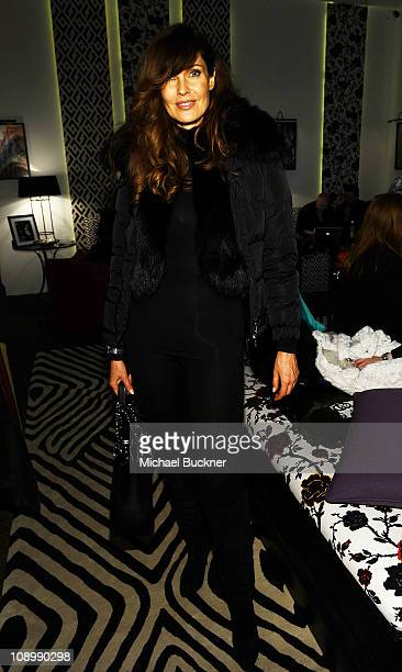 Model Carol Alt attends the MercedesBenz Fashion Week Fall 2011 Official Coverage at Lincoln Center on February 10 2011 in New York City