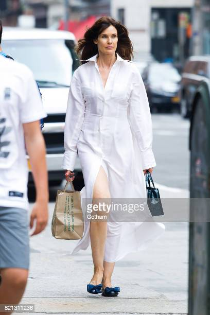 Model Carol Alt is seen in Tribeca on July 23 2017 in New York City