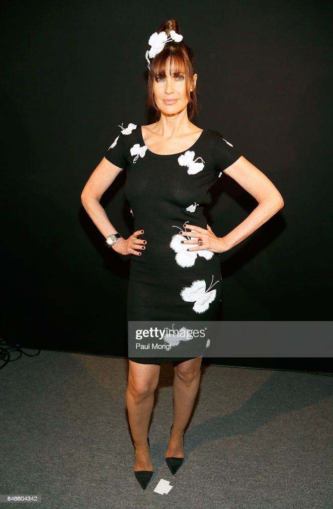 Model Carol Alt poses backstage at the Zang Toi fashion show during New York Fashion Week: The Shows at Gallery 3, Skylight Clarkson Sq on September 13, 2017 in New York City.