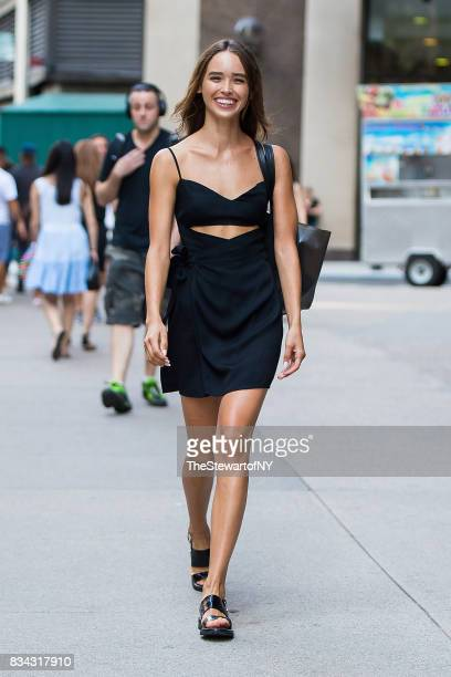 Model Carolina Sanchez attends casting for the 2017 Victoria's Secret Fashion Show in Midtown on August 17 2017 in New York City