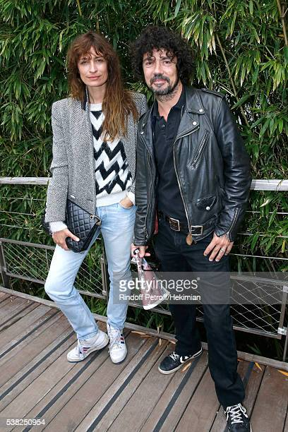 Model Caroline de Maigret and her companion musician Yarol Poupaud attend Day Fifteen Men single's Final of the 2016 French Tennis Open at Roland...